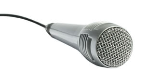 Microphone. On a white background Royalty Free Stock Photos