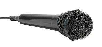 Microphone. On a white background Stock Image