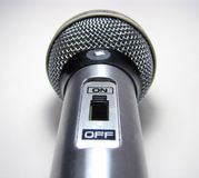 Microphone. With a button stock photo