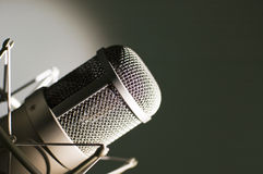 Microphone. Microphone in studio. Microphone in studio on a light background Royalty Free Stock Photography