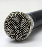 Microphone. Detail of microphone Stock Photos