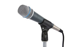 Microphone. On stand isolated on white Royalty Free Stock Images