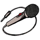 Microphone. Illustration of a microphone Stock Image