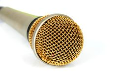 Microphone. On white Royalty Free Stock Image