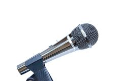 Microphone. Stainless stell performance microphone Royalty Free Stock Image