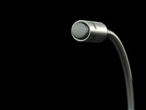 Microphone against black background Royalty Free Stock Images