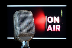 Microphone On-Air stock image