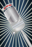 Microphone on the air Royalty Free Stock Image