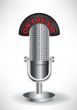 Microphone with on the air sign Stock Image