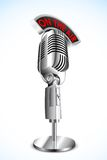Microphone with On Air Tag Royalty Free Stock Images