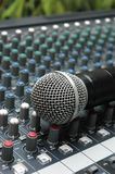 Microphone amplifier for talks Royalty Free Stock Image