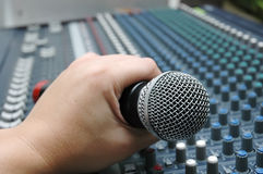Microphone amplifier for talks Royalty Free Stock Photography
