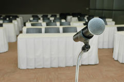 Microphone amplifier for talks Stock Photography