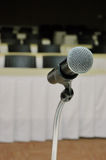 Microphone amplifier for talks Stock Images