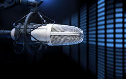 Microphone and analyzer Royalty Free Stock Photo