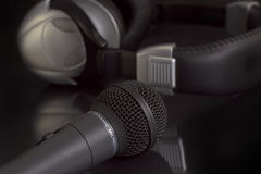 Microphone And Headphones. Royalty Free Stock Image
