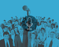 Microphone Announcement Mic Broadcast Recording Speech Concept Royalty Free Stock Photography