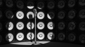 Microphone and audio background Stock Photos