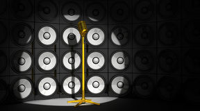 Microphone and audio background Stock Images