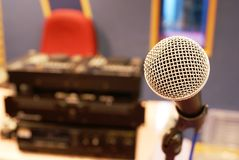 Microphone in audio studio Royalty Free Stock Images