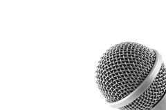 Microphone Background. Audio background with a microphone in the corner and lots of copy space Stock Photos