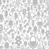 Microphone a background. Background made of a microphone. A vector illustration Royalty Free Stock Photo