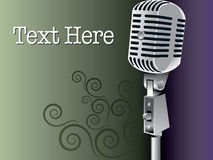 Microphone Background Royalty Free Stock Photography