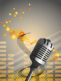 Microphone background Royalty Free Stock Image