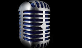 Microphone on a black background. 50s style Microphone on a black background Royalty Free Stock Photography