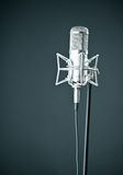 Microphone on the black background Royalty Free Stock Photo