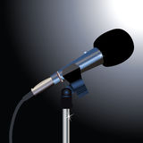 Microphone on a black background Stock Photography