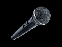 Microphone on black background Stock Photos