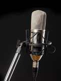 Microphone on black background Royalty Free Stock Image