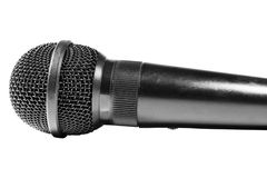 Microphone. Black Microphone isolated on black Royalty Free Stock Photography