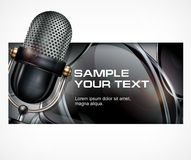Microphone on black Royalty Free Stock Photography