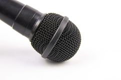 Microphone black on a white background stock photography