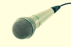 Microphone with black wire Stock Photos