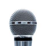 Microphone bleu d'isolement Photos libres de droits