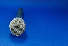 Microphone on Blue Stock Images