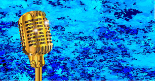 Microphone On Blues Fire Royalty Free Stock Photo