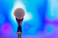 Microphone with blur background Stock Photo