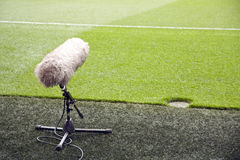 Microphone boom Stock Images