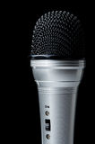 Microphone with on button Royalty Free Stock Image
