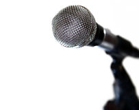 Microphone and cable Royalty Free Stock Photos