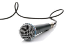 Microphone with cable Royalty Free Stock Photos