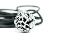 Microphone and cable Royalty Free Stock Photo