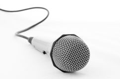 Microphone and cable Stock Images