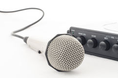 Microphone and cable Royalty Free Stock Photography