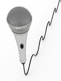 Microphone with cable Stock Image