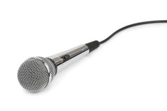 Microphone and cable Royalty Free Stock Images